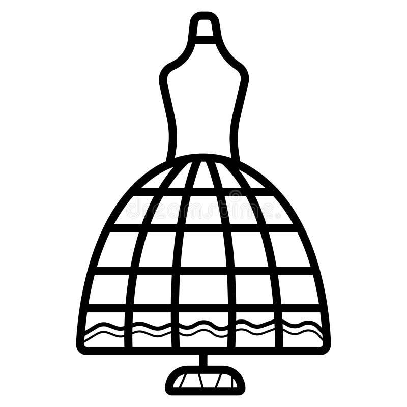 Вектор значка модели Dressmaker иллюстрация вектора