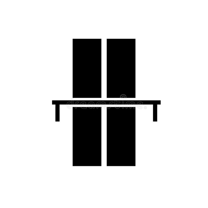 вектор значка моста эстакады изолированный на белой предпосылке, знаке моста эстакады иллюстрация вектора