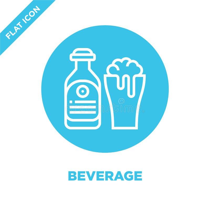 вектор значка напитка от собрания bbq и гриля Тонкая линия иллюстрация вектора значка плана напитка Линейный символ для пользы да иллюстрация штока