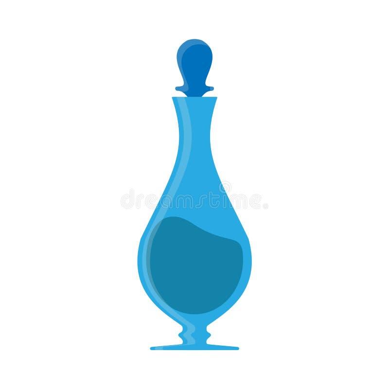 Вектор значка напитка Carafe голубой Крупный план соды стеклянной тары бара графинчика Иллюстрация кухни воды кувшина напитка бесплатная иллюстрация