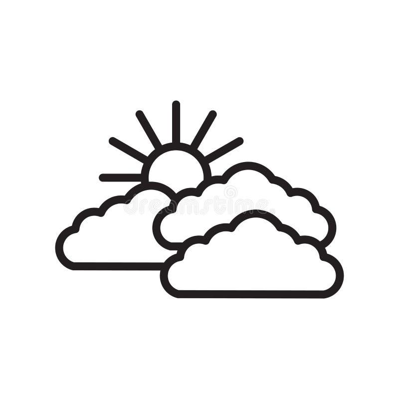 Вектор значка неба изолированный на белой предпосылке, знаке неба бесплатная иллюстрация