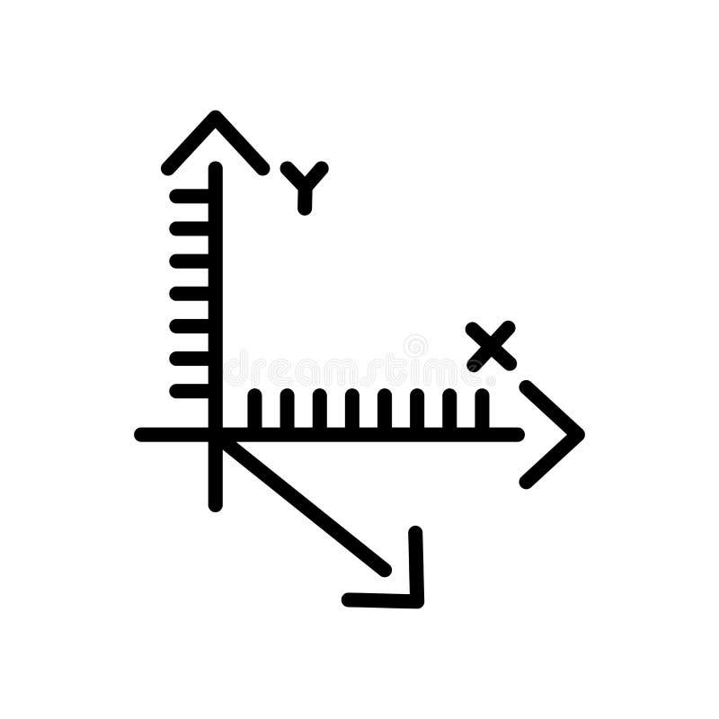 Вектор значка оси изолированный на белой предпосылке, знаке оси, linea иллюстрация вектора