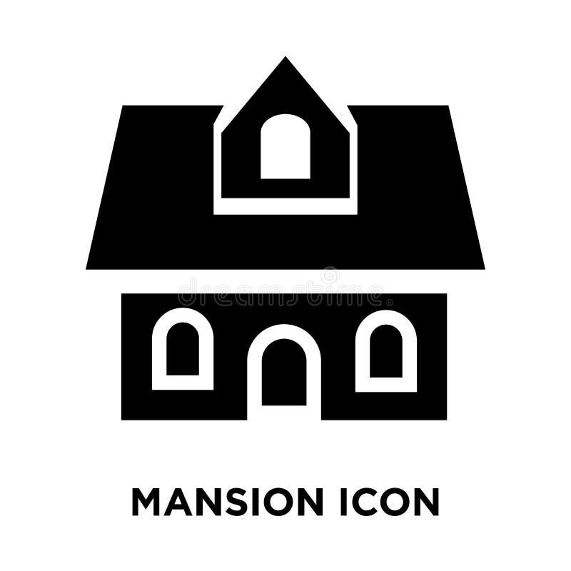 Вектор значка особняка изолированный на белой предпосылке, концепции o логотипа бесплатная иллюстрация