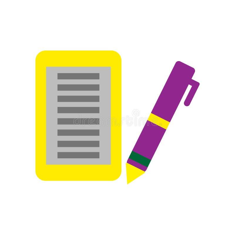 Вектор значка отметки изолированный на белой предпосылке, знаке отметки, красочных символах оборудования бесплатная иллюстрация