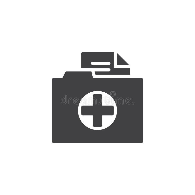 Вектор значка папки истории болезни иллюстрация штока