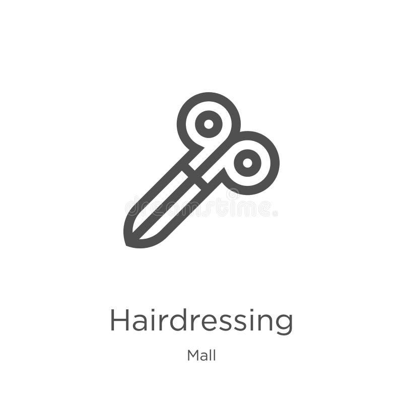 вектор значка парикмахерских услуг от собрания торгового центра Тонкая линия иллюстрация вектора значка плана парикмахерских услу бесплатная иллюстрация