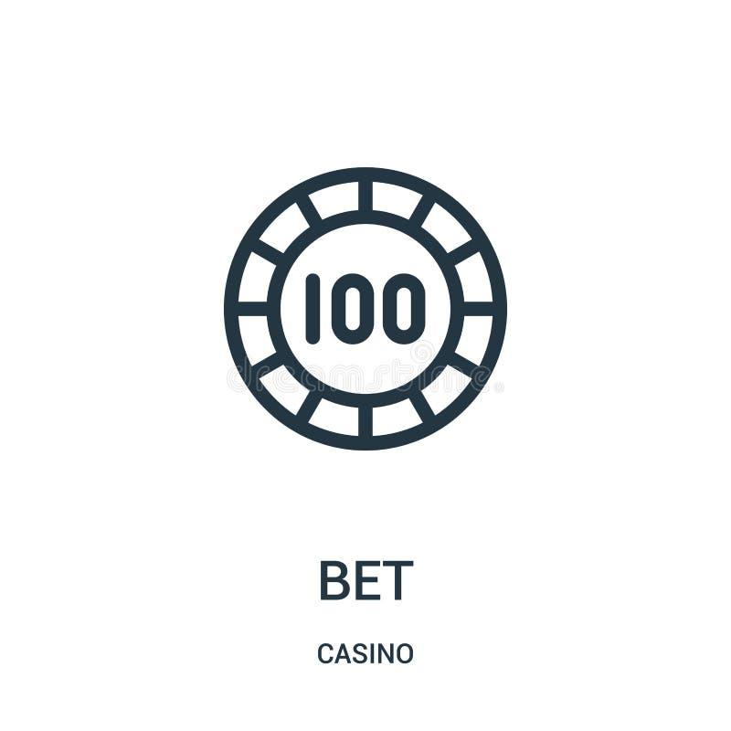 вектор значка пари от собрания казино Тонкая линия иллюстрация вектора значка плана пари иллюстрация вектора