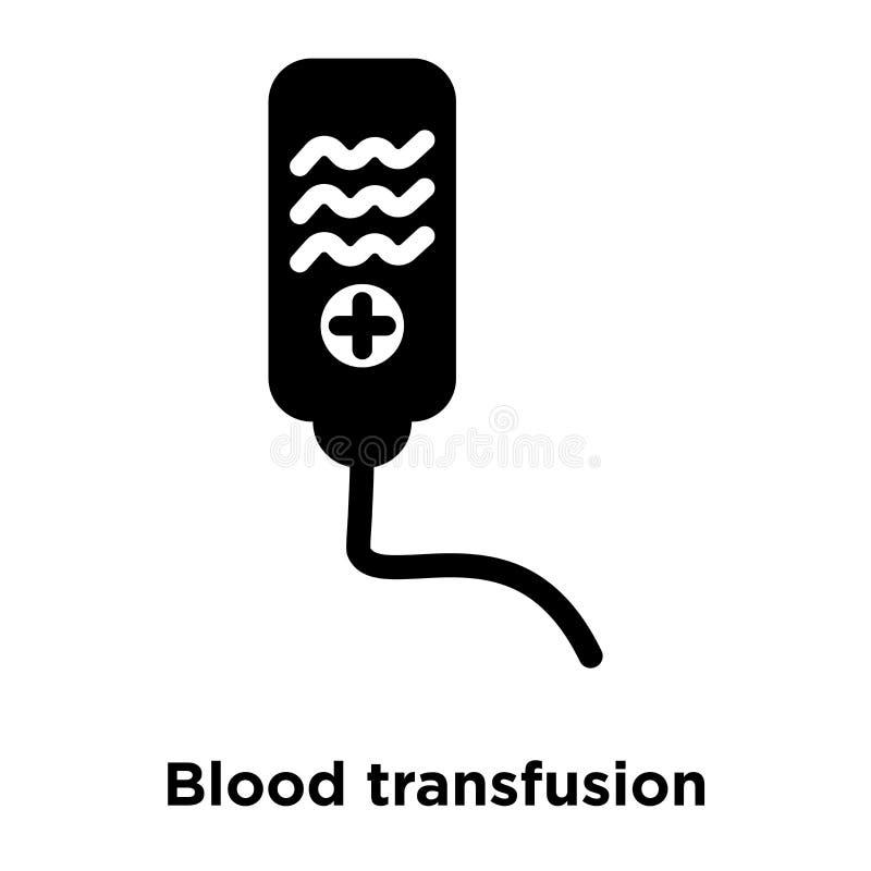 Вектор значка переливания крови изолированный на белой предпосылке, логотипе иллюстрация штока