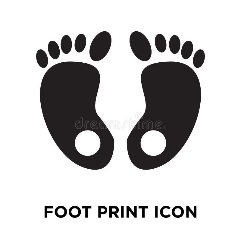 Вектор значка печати ноги изолированный на белой предпосылке, concep логотипа иллюстрация штока