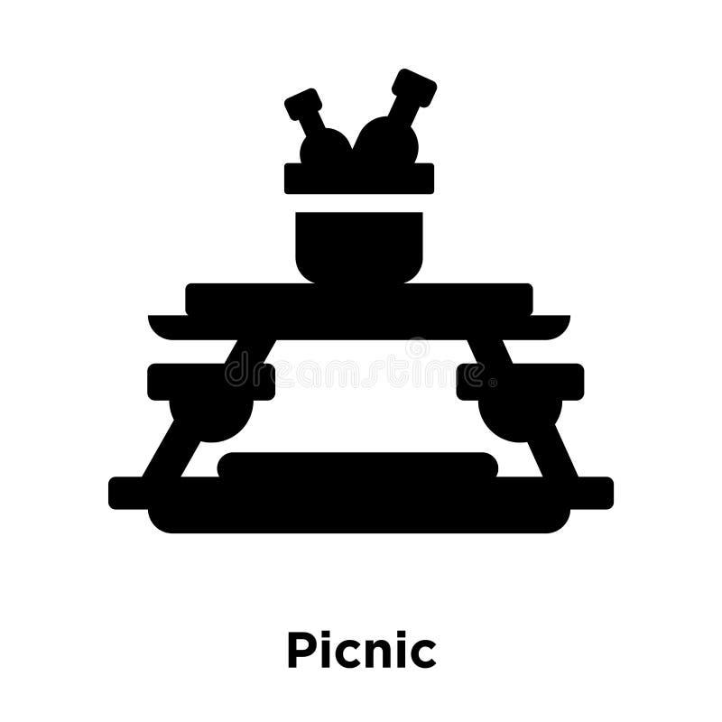 Вектор значка пикника изолированный на белой предпосылке, концепции логотипа  бесплатная иллюстрация