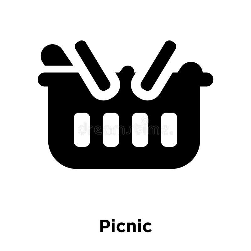 Вектор значка пикника изолированный на белой предпосылке, концепции логотипа  иллюстрация штока