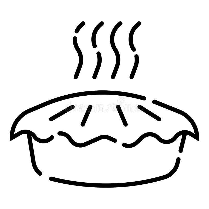 Вектор значка пирога иллюстрация штока