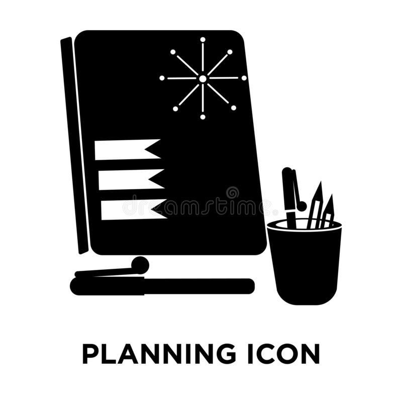 Вектор значка планирования изолированный на белой предпосылке, концепции логотипа иллюстрация вектора