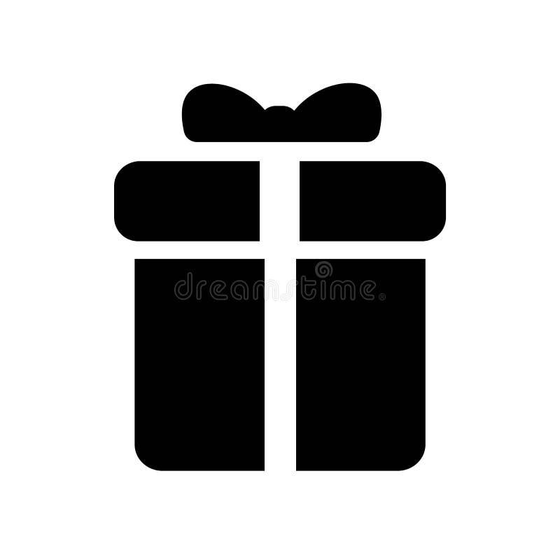 вектор значка подарка иллюстрация штока