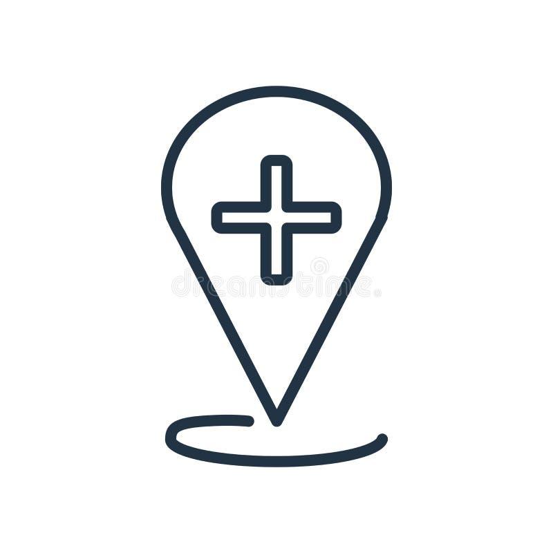 Вектор значка положения изолированный на белой предпосылке, знаке положения бесплатная иллюстрация