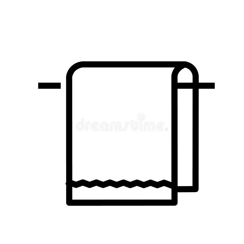 Вектор значка полотенца иллюстрация вектора