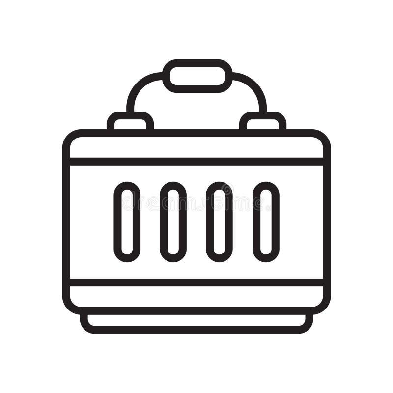 Вектор значка портфеля изолированный на белой предпосылке, портфеле si иллюстрация штока