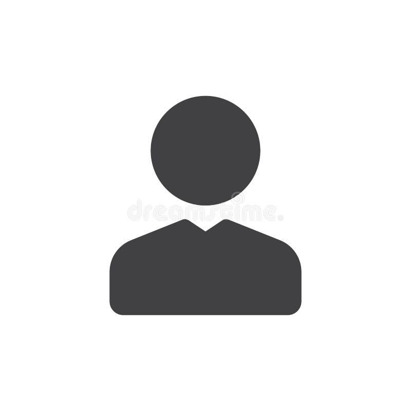 Вектор значка потребителя простой иллюстрация штока