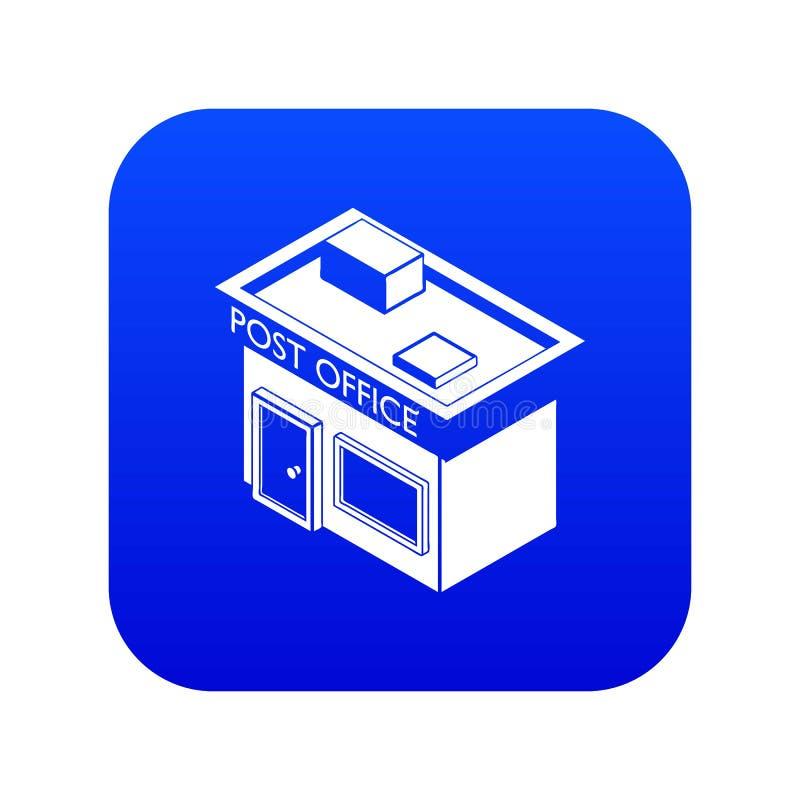 Вектор значка почтового отделения голубой бесплатная иллюстрация
