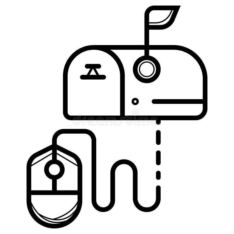 Вектор значка почтового ящика иллюстрация вектора