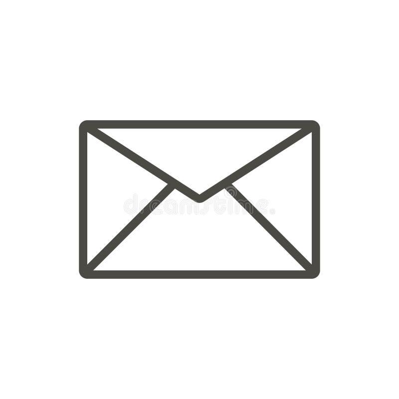 Вектор значка почты Линия символ электронной почты иллюстрация вектора