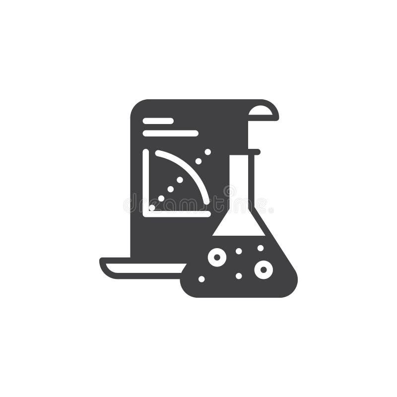 Вектор значка применения науки, заполненный плоский знак, твердая пиктограмма изолированная на белизне иллюстрация вектора