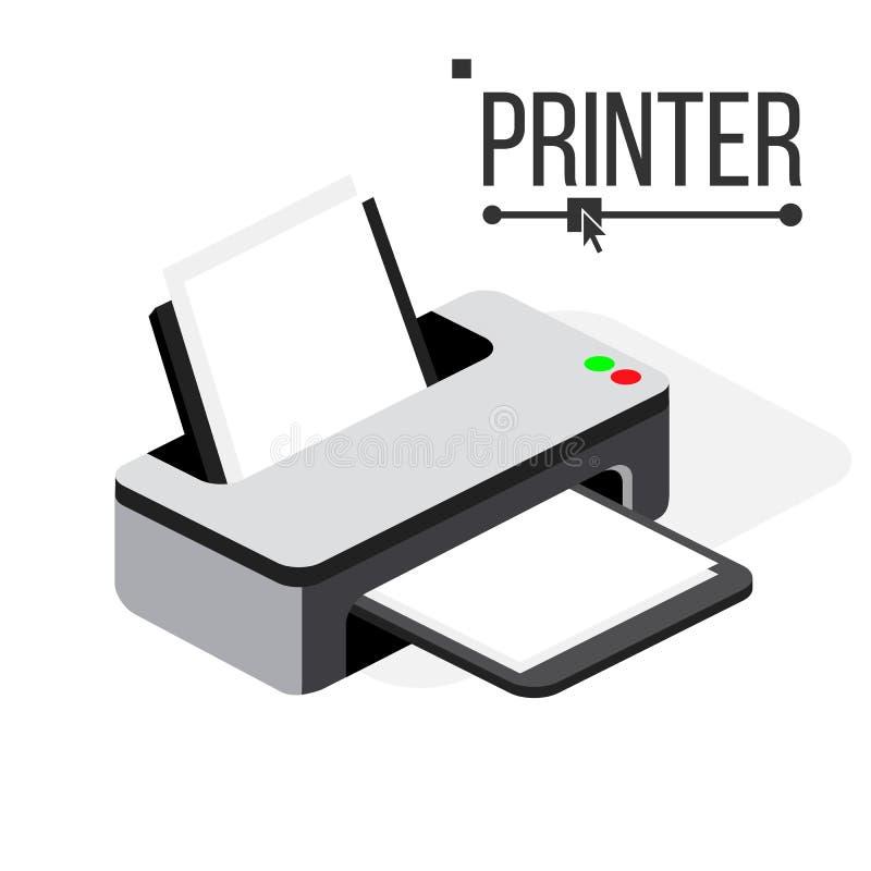Вектор значка принтера Современные чернила офиса, лазерный принтер Равновеликая изолированная иллюстрация бесплатная иллюстрация