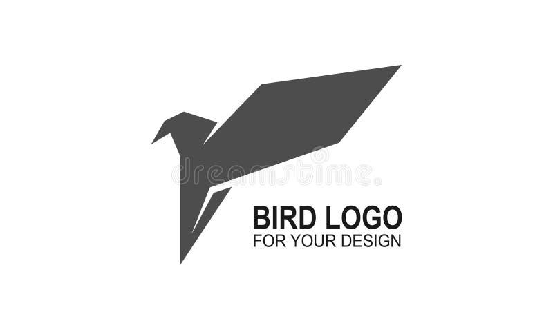Вектор значка птицы, дизайн иллюстрации логотипа символ или талисман иллюстрация штока