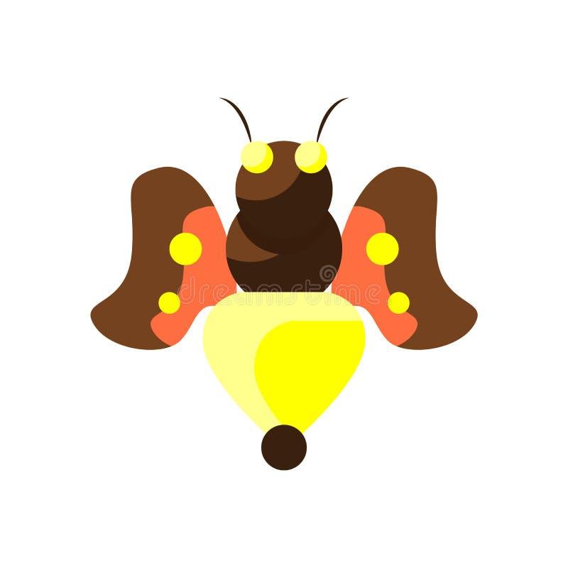Вектор значка пчелы изолированный на белой предпосылке, знаке пчелы, красочных символах иллюстрация штока