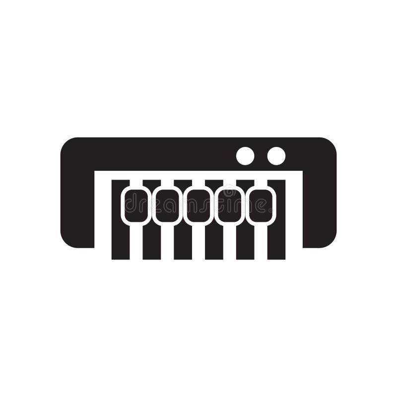 Вектор значка рояля изолированный на белой предпосылке, знаке рояля, cel иллюстрация штока