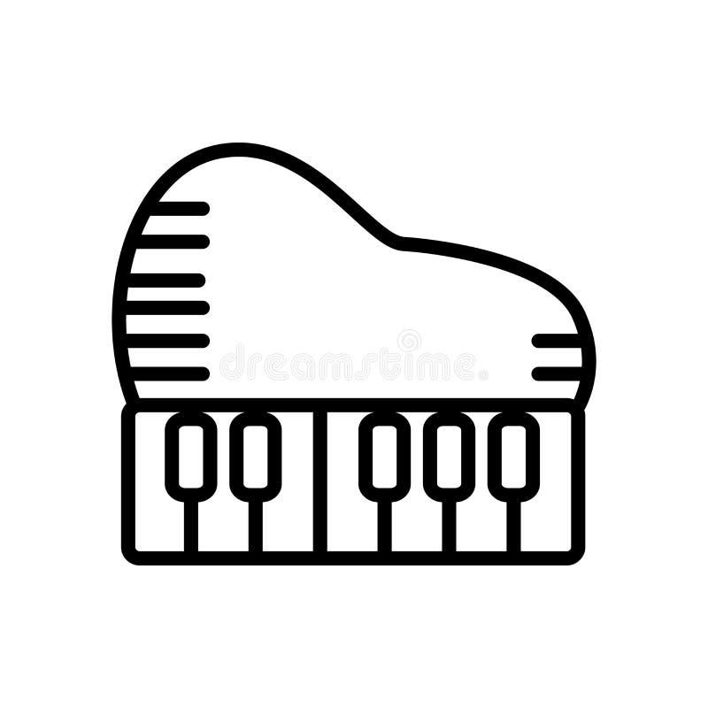 Вектор значка рояля изолированный на белой предпосылке, знаке рояля, lin иллюстрация вектора