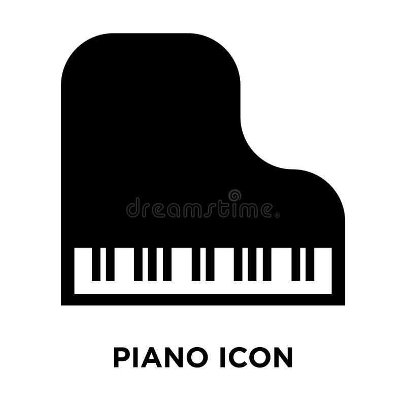 Вектор значка рояля изолированный на белой предпосылке, концепции логотипа  иллюстрация вектора