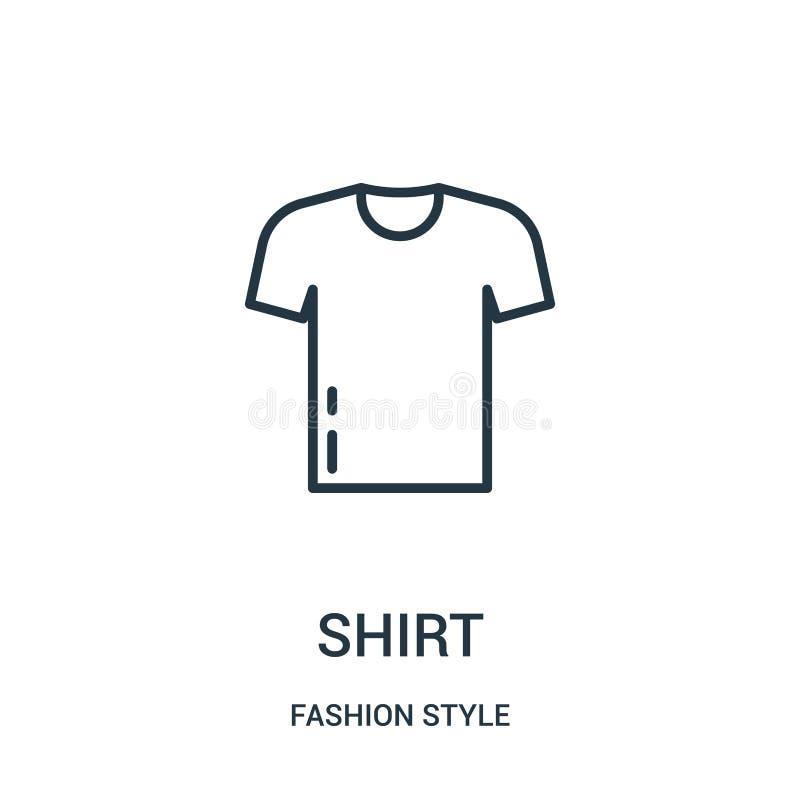 вектор значка рубашки от собрания стиля моды Тонкая линия иллюстрация вектора значка плана рубашки иллюстрация вектора