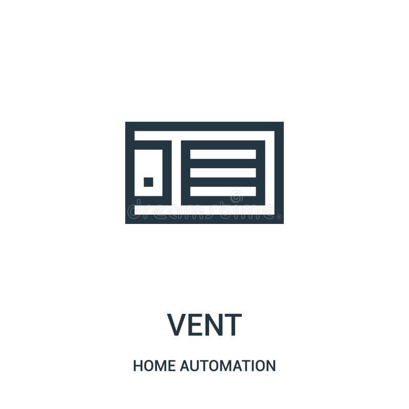 вектор значка сброса от собрания домашней автоматизации Тонкая линия иллюстрация вектора значка плана сброса r иллюстрация штока