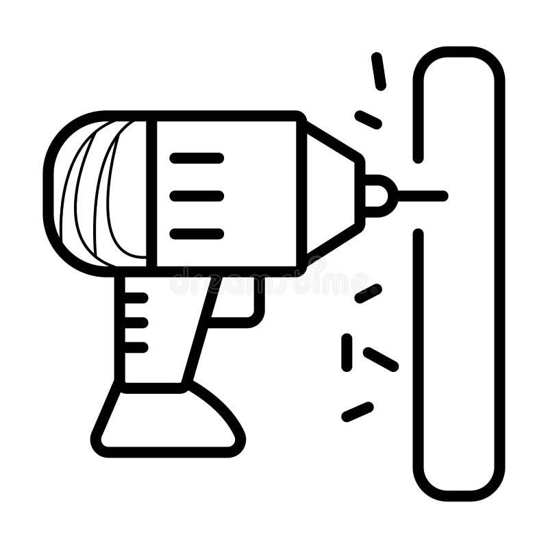 Вектор значка сверла бесплатная иллюстрация