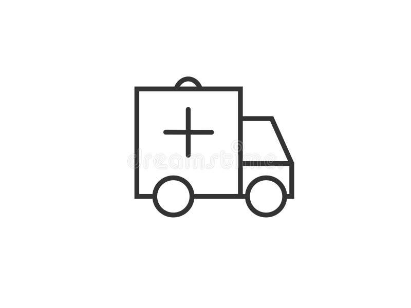 Вектор значка сети машины скорой помощи/автомобиля стоковые изображения