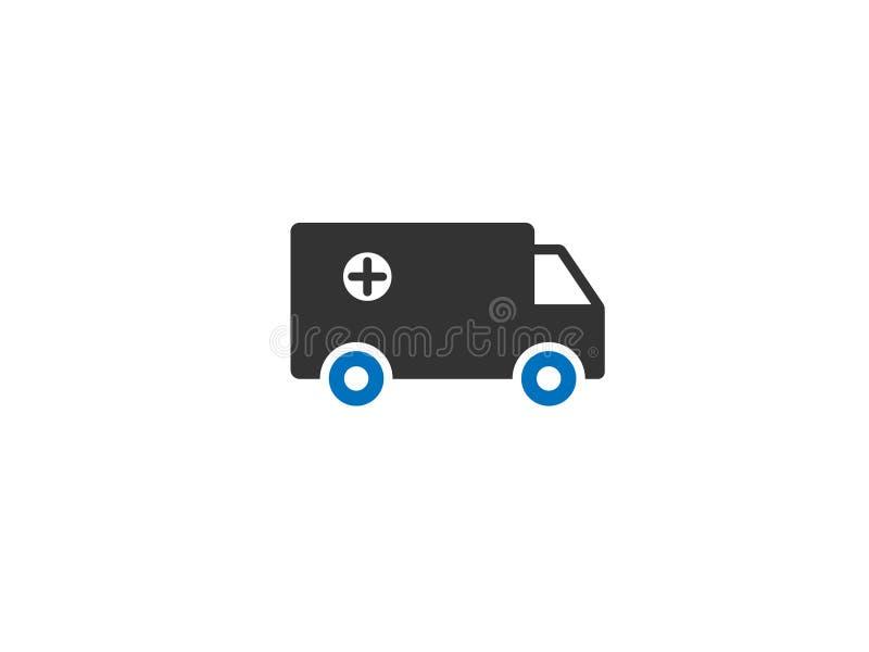Вектор значка сети машины скорой помощи/автомобиля стоковое изображение