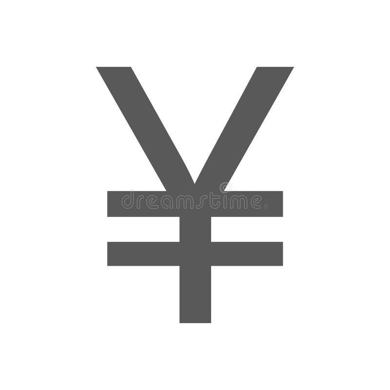 Вектор значка символа иен простой иллюстрация вектора