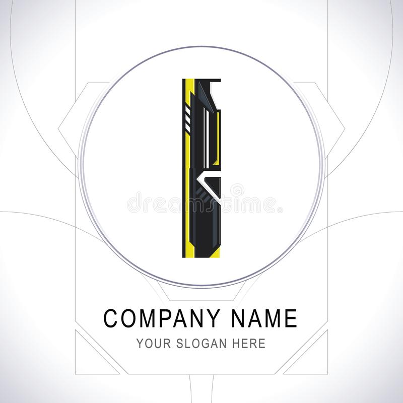 Вектор значка символа логотипа общины Gamer письма i иллюстрация штока