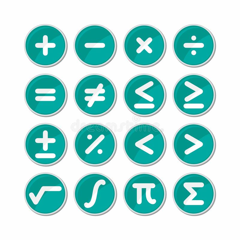 Вектор значка символа математики круга иллюстрация штока