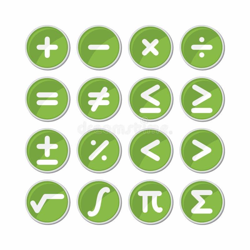 Вектор значка символа математики круга иллюстрация вектора