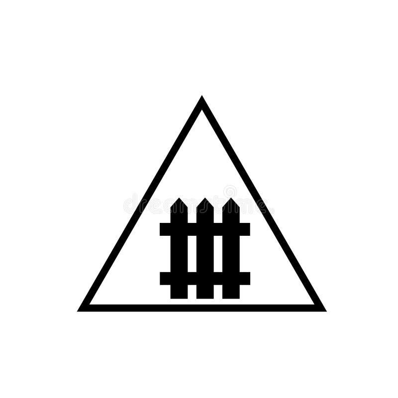 Вектор значка скрещивания рельса изолированный на белой предпосылке, знаке скрещивания рельса иллюстрация вектора