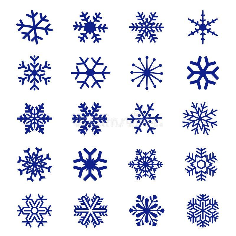 Вектор значка снежинки стоковое изображение