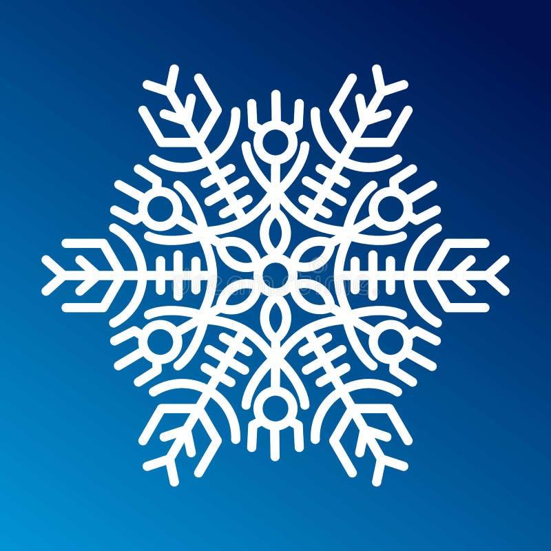 Download Вектор значка снежинки иллюстрация вектора. иллюстрации насчитывающей льдед - 81802338