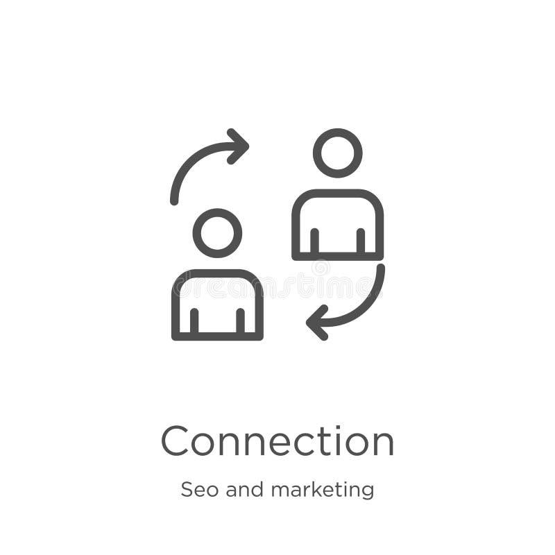 вектор значка соединения от собрания seo и маркетинга Тонкая линия иллюстрация вектора значка плана соединения r бесплатная иллюстрация