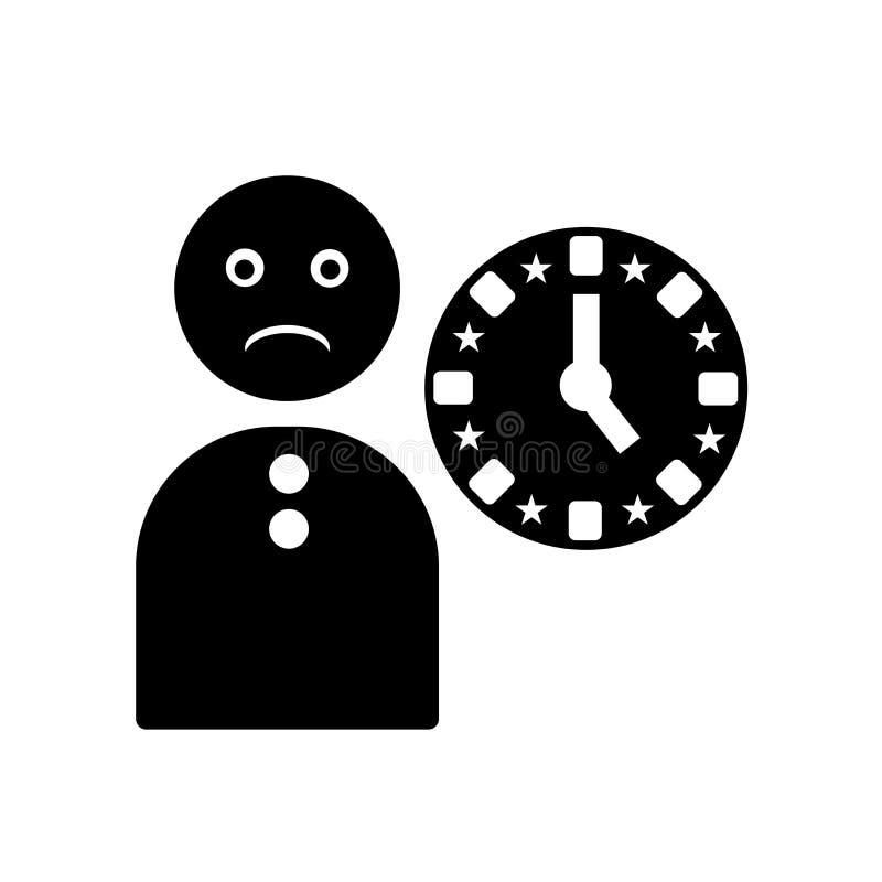 Вектор значка спешности изолированный на белой предпосылке, спешит знак, черные символы времени бесплатная иллюстрация