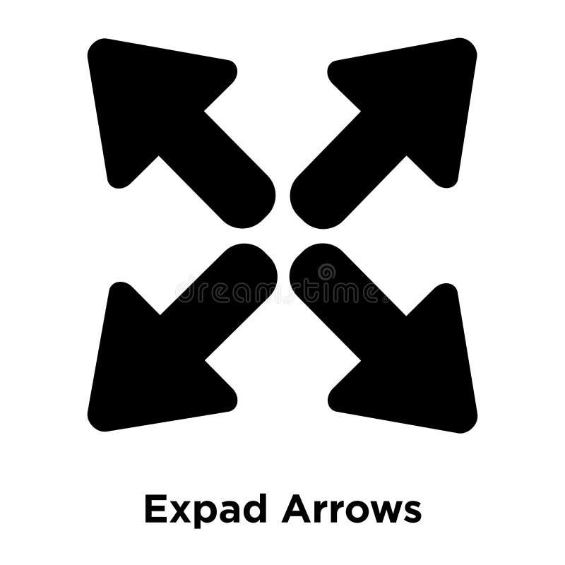 Вектор значка стрелок Expad изолированный на белой предпосылке, логотипе conc иллюстрация вектора