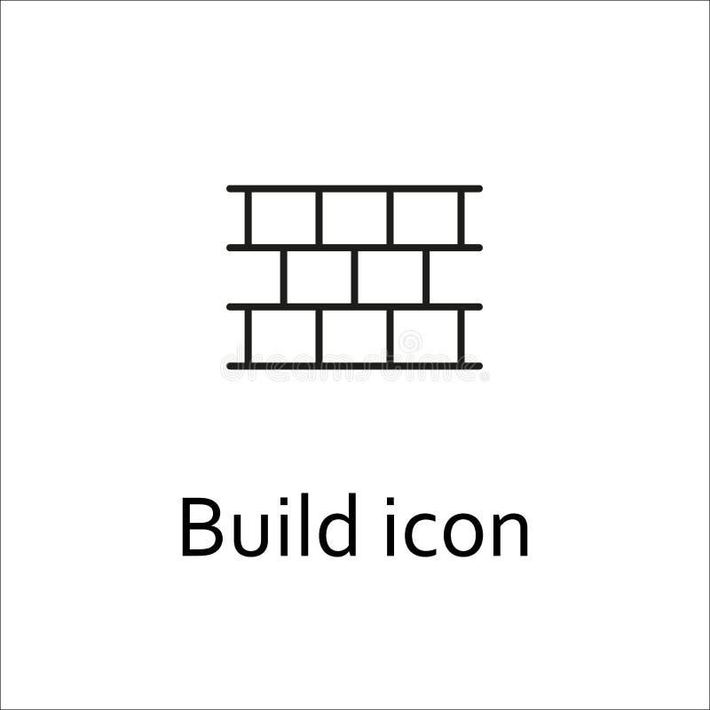 Вектор значка строения Значок кирпичей Логотип кирпичей бесплатная иллюстрация