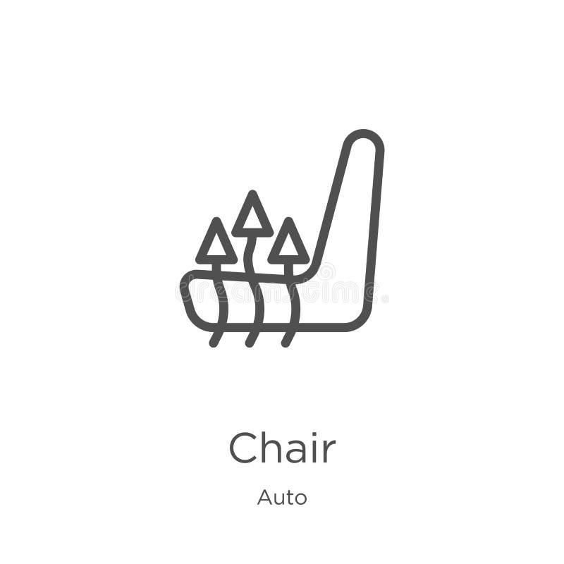 вектор значка стула от автоматического собрания Тонкая линия иллюстрация вектора значка плана стула План, тонкая линия значок сту иллюстрация вектора