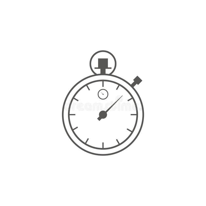 Вектор значка таймера Концепция ждать, времени и часов Линия значок искусства Дело и управление иллюстрация вектора